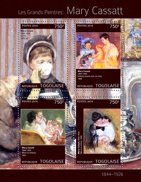 Mary Cassatt - Issue of Togo postage stamps
