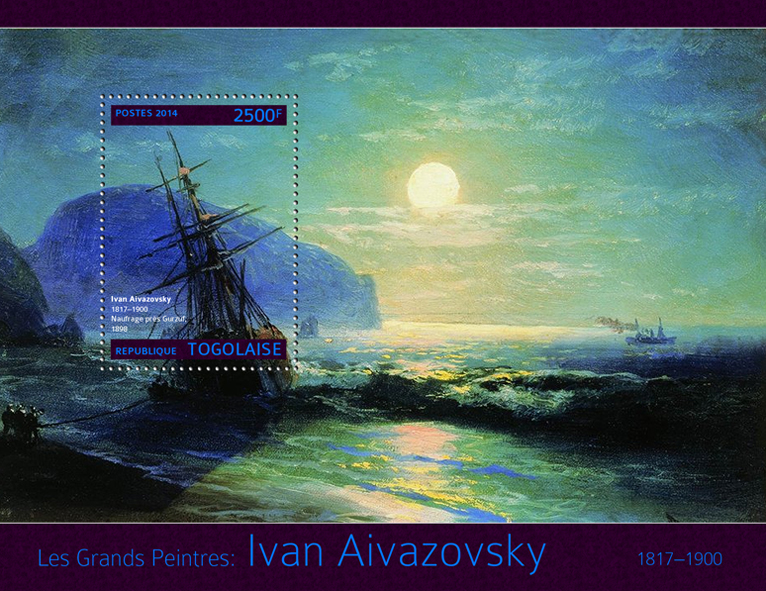 Ivan Aivazaovsky  - Issue of Togo postage stamps