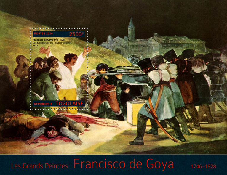 Francisko de Goya - Issue of Togo postage stamps
