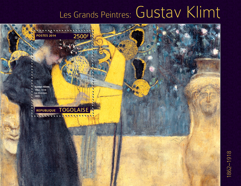 Gustav Klimt - Issue of Togo postage stamps