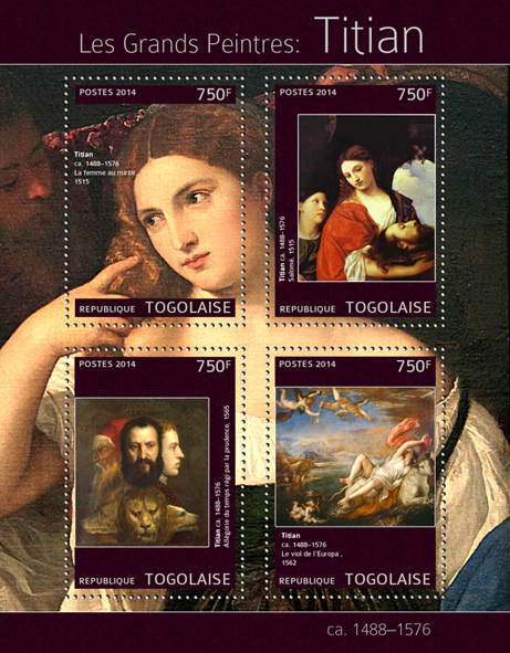 Titian - Issue of Togo postage stamps