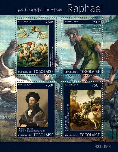 Raphael - Issue of Togo postage stamps