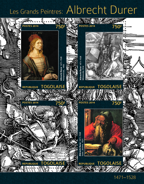 Albrecht Durer  - Issue of Togo postage stamps