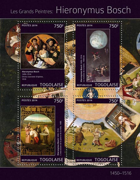 Hieronymus Bosch - Issue of Togo postage stamps