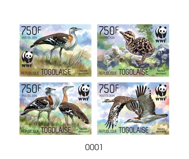 WWF – Birds (delux) - Issue of Togo postage stamps