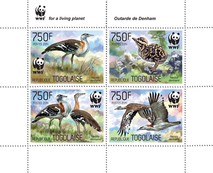 WWF – Birds (set) - Issue of Togo postage stamps