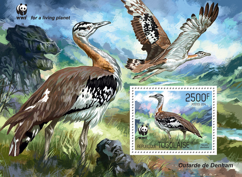 WWF – Birds (souvenir sheet) - Issue of Togo postage stamps