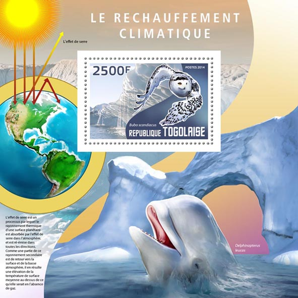 Global warming - Issue of Togo postage stamps