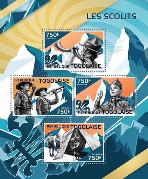 Scouts  - Issue of Togo postage stamps