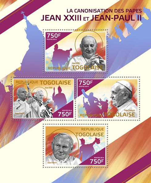 John Paul II  - Issue of Togo postage stamps