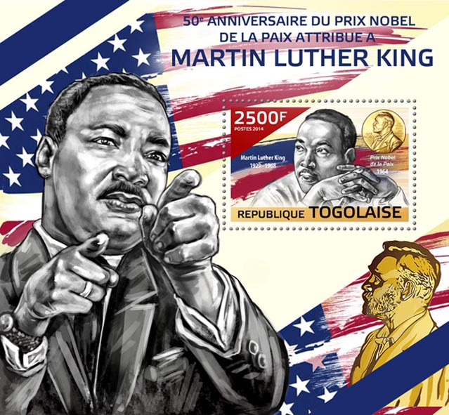 Martin Luther King Jr.'s - Issue of Togo postage stamps