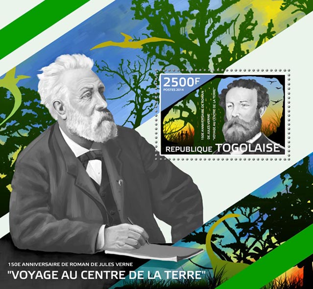 Jules Verne novel  - Issue of Togo postage stamps