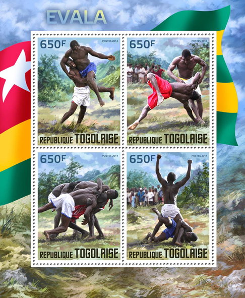 Evala - Issue of Togo postage stamps