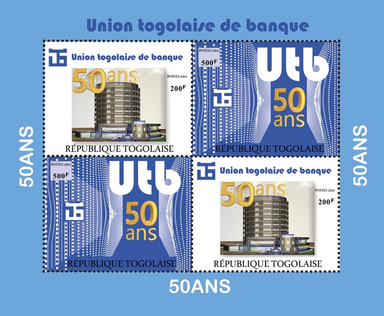 Togolese Bank Union - Issue of Togo postage stamps