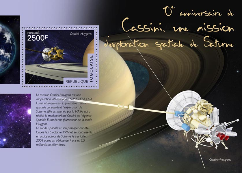 Space - Issue of Togo postage stamps