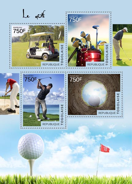 Golf  - Issue of Togo postage stamps