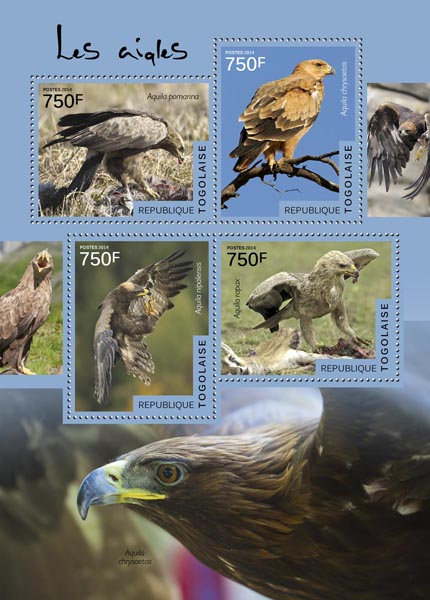 Eagles - Issue of Togo postage stamps