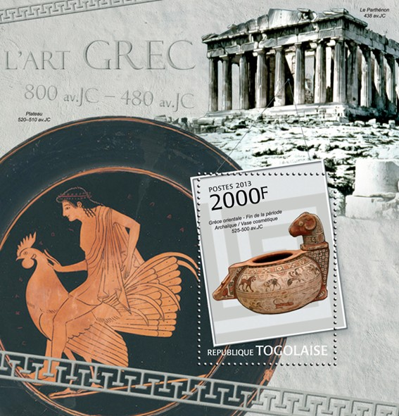 Greek Art - Issue of Togo postage stamps