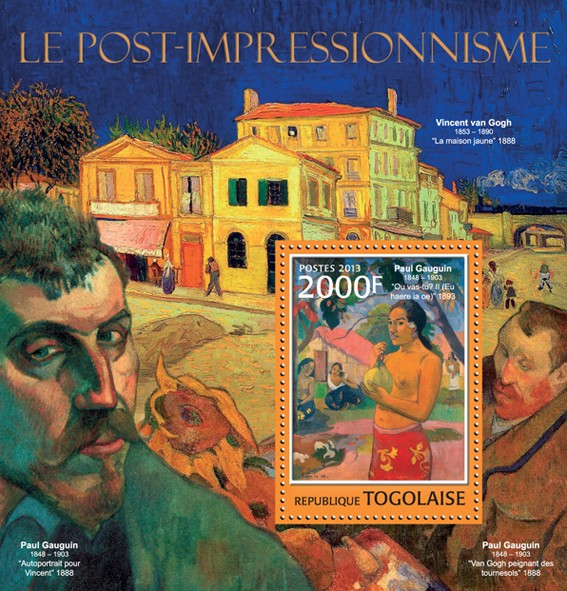 Impressionism - Issue of Togo postage stamps