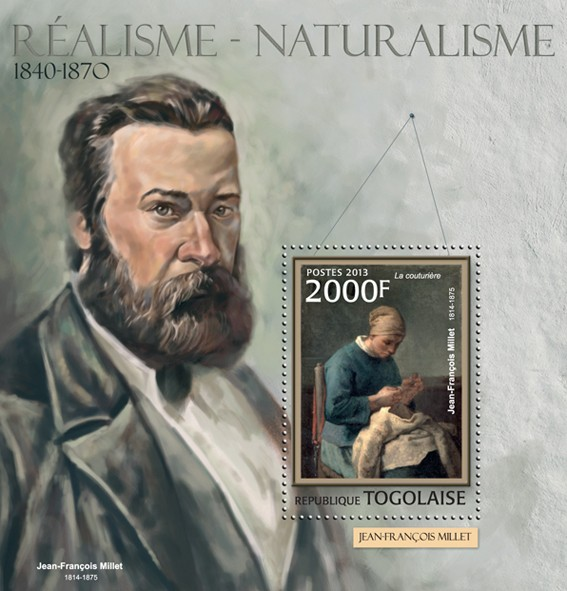Realism - Naturalism - Issue of Togo postage stamps