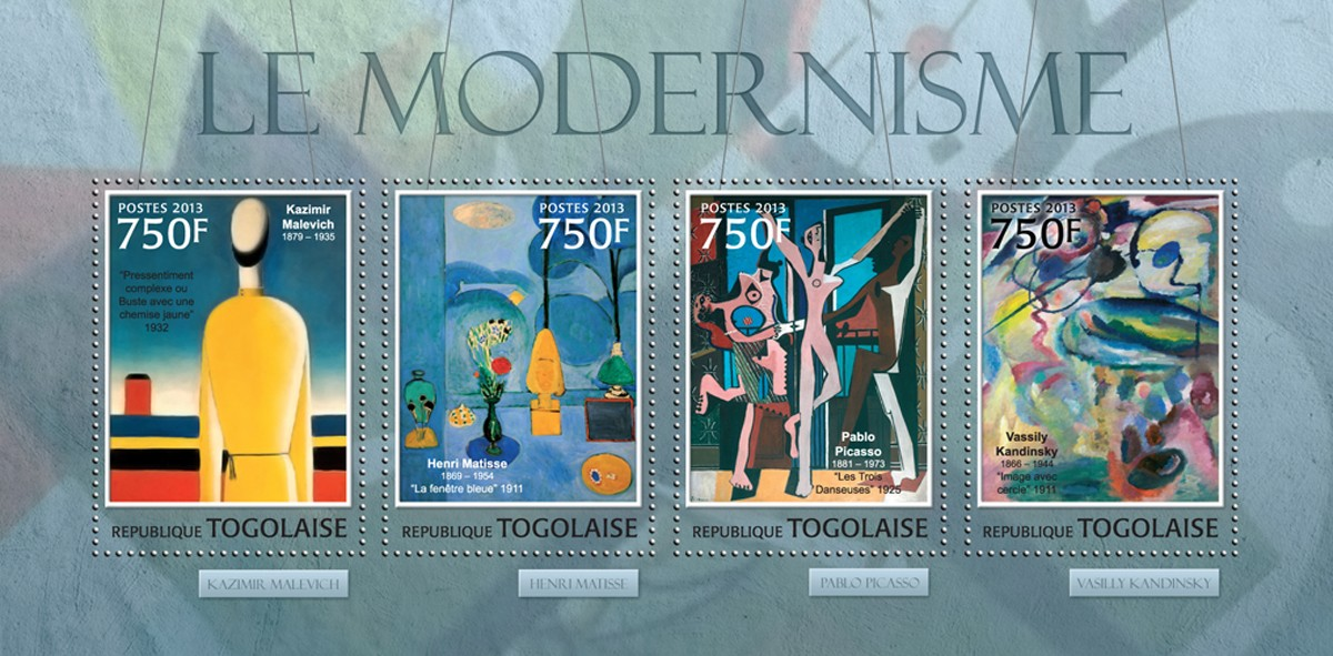 Modernism - Issue of Togo postage stamps