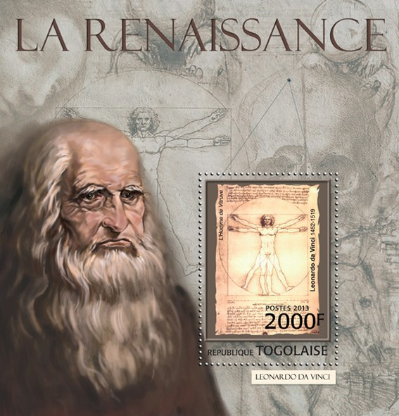 Renaissance - Issue of Togo postage stamps