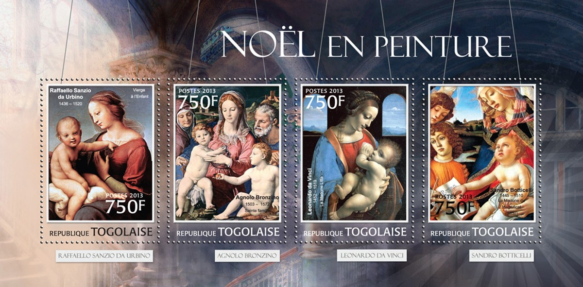 Noel Painting - Issue of Togo postage stamps