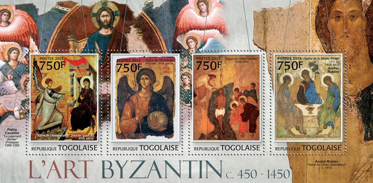Byzantine art - Issue of Togo postage stamps