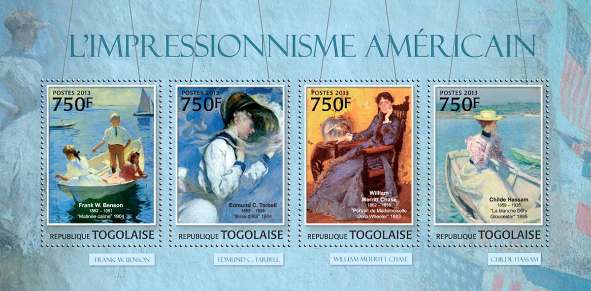 American Impressionism - Issue of Togo postage stamps