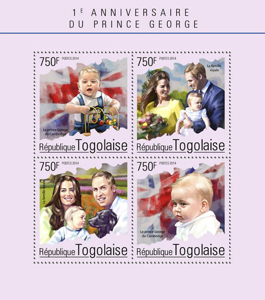 Prince George - Issue of Togo postage stamps
