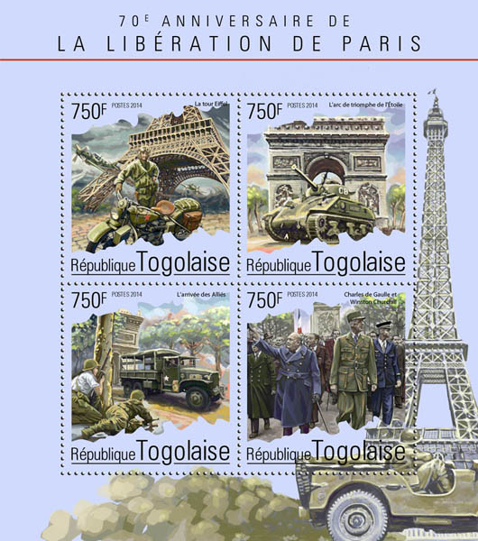 Paris - Issue of Togo postage stamps