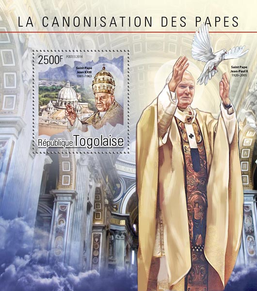 Pope John Paul II - Issue of Togo postage stamps