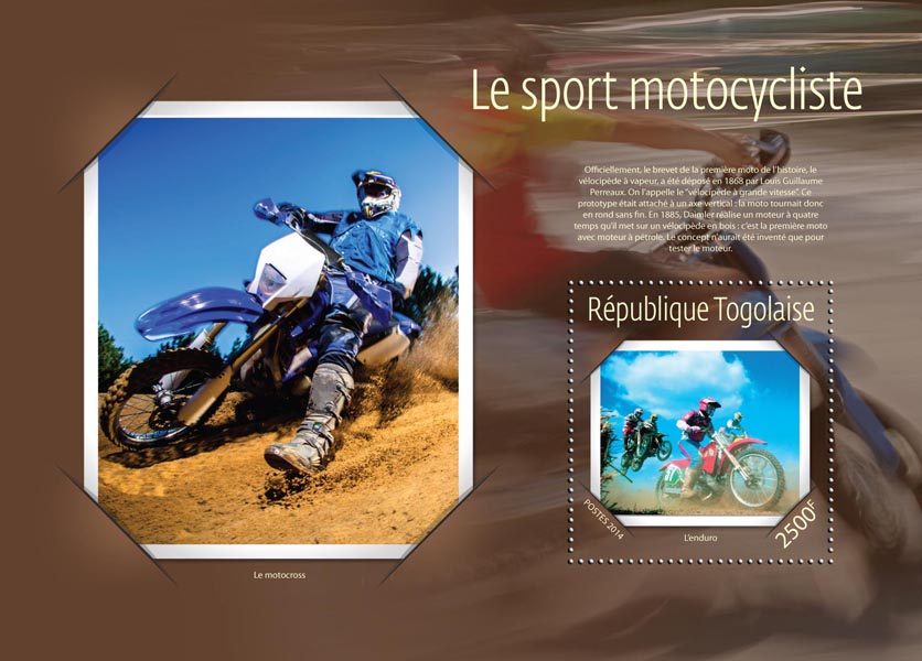Motorcycle sport  - Issue of Togo postage stamps