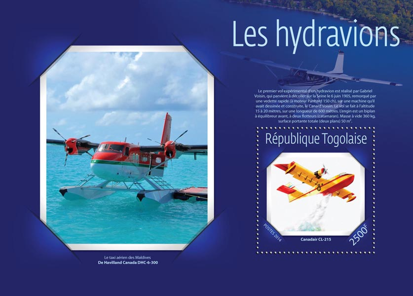 Seaplanes - Issue of Togo postage stamps