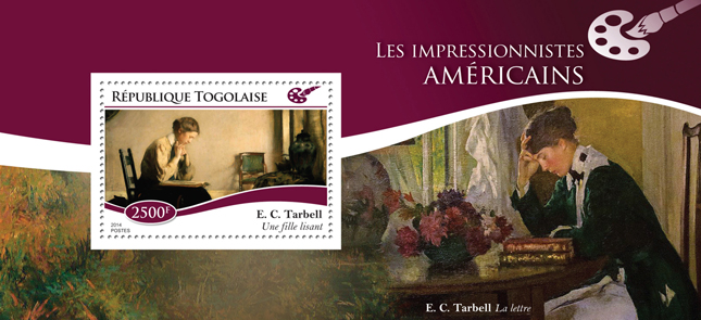 American impressionists - Issue of Togo postage stamps