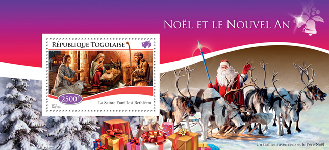 Christmas - Issue of Togo postage stamps