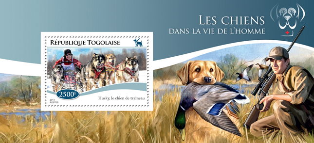 Dogs in Humans life - Issue of Togo postage stamps