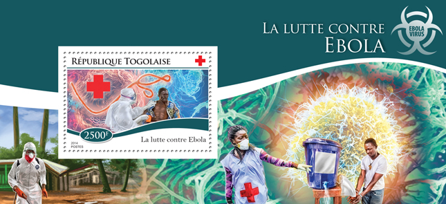 Ebola virus - Issue of Togo postage stamps