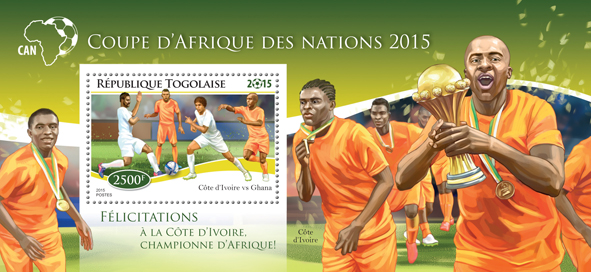Football - Issue of Togo postage stamps