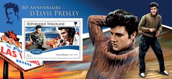Elvis Presley  - Issue of Togo postage stamps