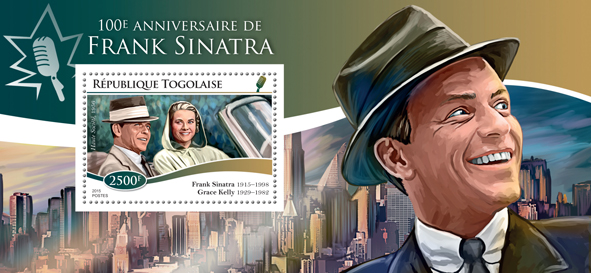 Frank Sinatra - Issue of Togo postage stamps