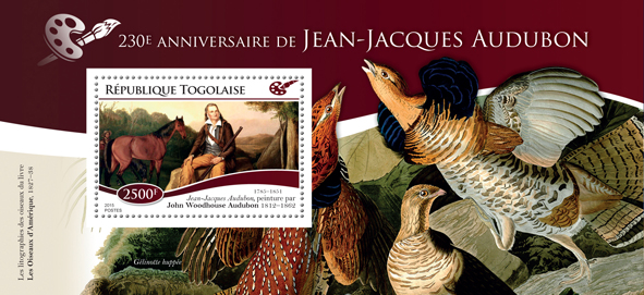 Jean-Jacques Audubon - Issue of Togo postage stamps