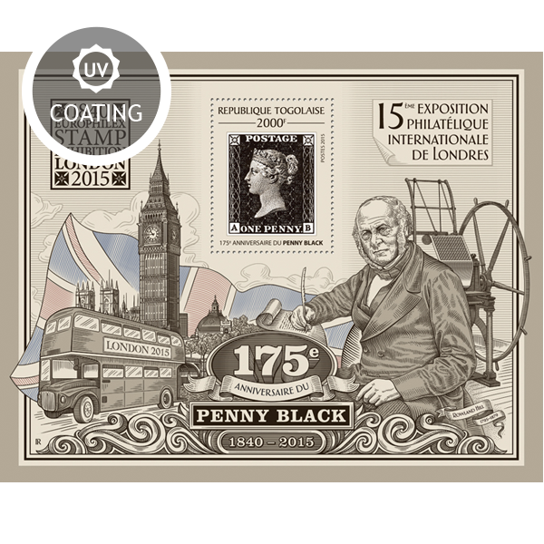 Penny Black - Issue of Togo postage stamps