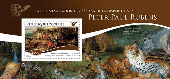 Peter Paul Rubens - Issue of Togo postage stamps