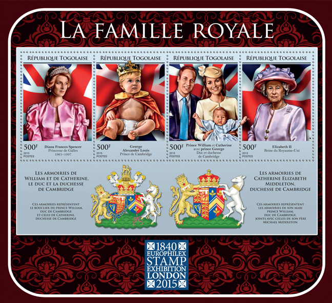 The Royal Family - Issue of Togo postage stamps