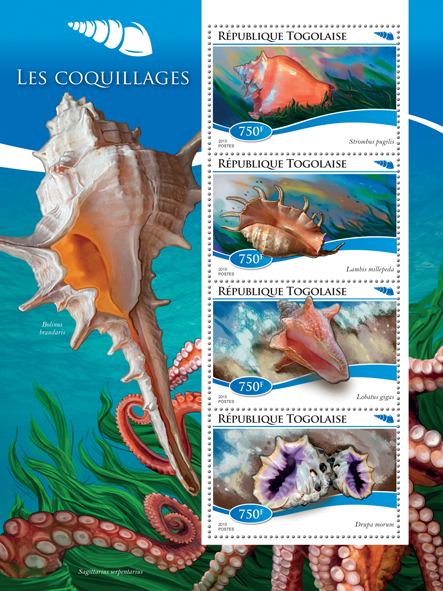 Shells - Issue of Togo postage stamps