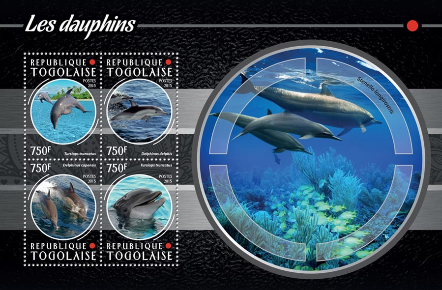 Dolphins - Issue of Togo postage stamps