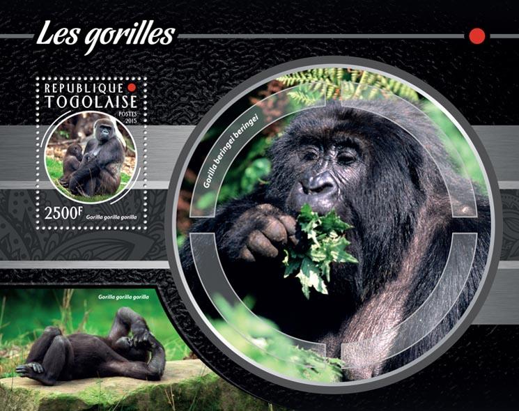 Gorillas - Issue of Togo postage stamps
