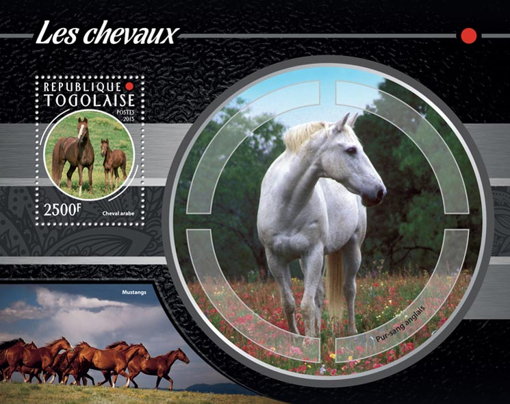 Horses - Issue of Togo postage stamps