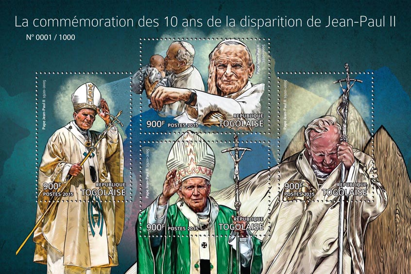 John-Paul II - Issue of Togo postage stamps